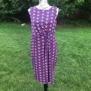 Motherhood Maternity-sleeveless purple dress M